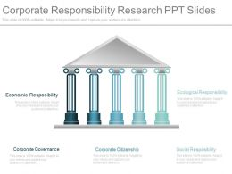 Corporate Responsibility Research Ppt Slides