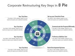 Corporate Restructuring Key Steps In 8 Pie