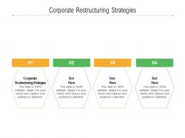 Corporate Restructuring Strategies Ppt Powerpoint Presentation Summary Graphics Cpb