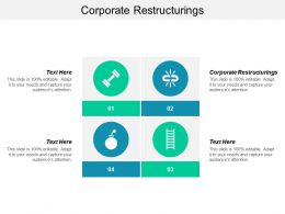 Corporate Restructurings Ppt Powerpoint Presentation Gallery Icons Cpb