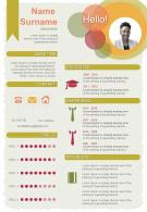 Corporate Resume Design Infographic CV Template With Skills And Experience