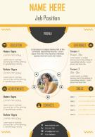 Corporate Resume Infographic Design With Creative Layout