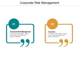 Corporate Risk Management Ppt Powerpoint Presentation Ideas Guide Cpb