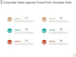 Corporate Sales Agenda Powerpoint Template Slide