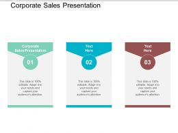 Corporate Sales Presentation Ppt Powerpoint Presentation Ideas Slide Cpb
