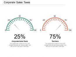 Corporate Sales Taxes Ppt Powerpoint Presentation Infographics Slide Portrait Cpb