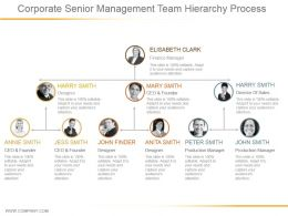 Corporate Senior Management Team Hierarchy Process Powerpoint Images