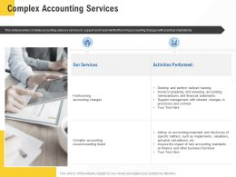 Corporate Service Providers Complex Accounting Services Ppt Powerpoint Guidelines