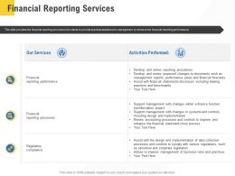 Corporate Service Providers Financial Reporting Services Ppt Powerpoint Infographics