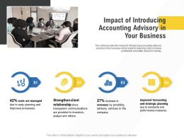Corporate Service Providers Impact Of Introducing Accounting Advisory In Your Business Ppt Themes