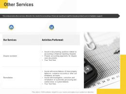Corporate Service Providers Other Services Ppt Powerpoint Presentation Model