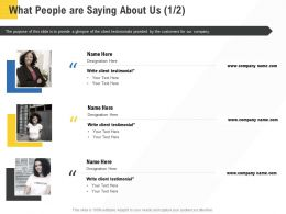 Corporate Service Providers What People Are Saying About Us Ppt Powerpoint Styles