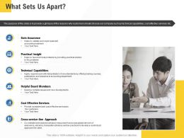 Corporate Service Providers What Sets Us Apart Ppt Powerpoint Presentation Gallery Ideas