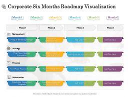 Corporate Six Months Roadmap Visualization