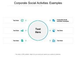 Corporate Social Activities Examples Ppt Powerpoint Presentation Ideas Example File Cpb
