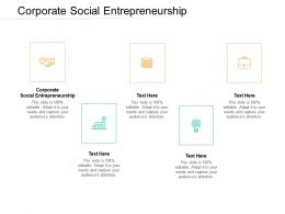 Corporate Social Entrepreneurship Ppt Powerpoint Presentation Portfolio Design Templates Cpb
