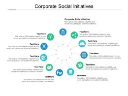 Corporate Social Initiatives Ppt Powerpoint Presentation Slides Design Templates Cpb