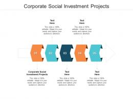Corporate Social Investment Projects Ppt Powerpoint Presentation Icon Images Cpb