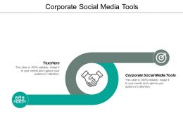 Corporate Social Media Tools Ppt Powerpoint Presentation Styles Influencers Cpb