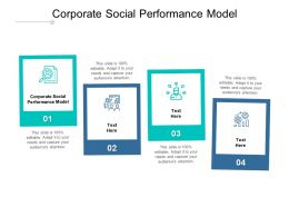 Corporate Social Performance Model Ppt Powerpoint Presentation Slides Cpb