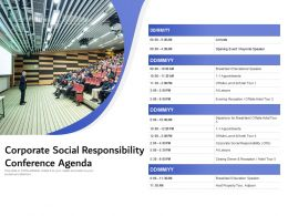 Corporate Social Responsibility Conference Agenda