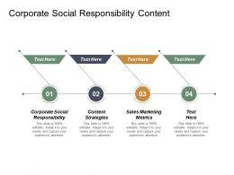 Corporate Social Responsibility Content Strategies Sales Marketing Metrics Cpb