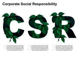 Corporate Social Responsibility CSR Environment Protection