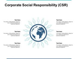 Corporate Social Responsibility Csr Ppt Powerpoint Presentation File Brochure