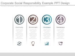 Corporate Social Responsibility Example Ppt Design