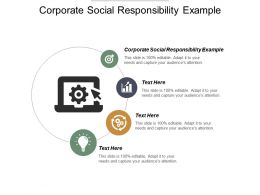 Corporate Social Responsibility Example Ppt Powerpoint Presentation Pictures Layout Ideas Cpb