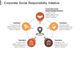 Corporate Social Responsibility Initiative Ppt Powerpoint Presentation File Microsoft Cpb