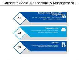 Corporate Social Responsibility Management Financial Services Cmo Marketing Cpb