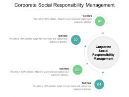 Corporate Social Responsibility Management Ppt Powerpoint Presentation Inspiration Cpb