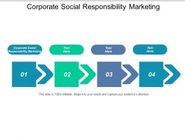 Corporate Social Responsibility Marketing Ppt Powerpoint Presentation Summary Graphics Example Cpb