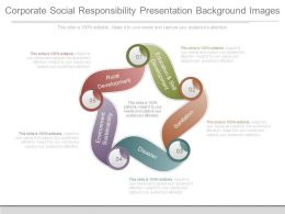 Corporate Social Responsibility Presentation Background Images