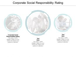 Corporate Social Responsibility Rating Ppt Powerpoint Presentation File Topics Cpb
