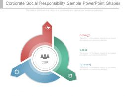 Corporate Social Responsibility Sample Powerpoint Shapes