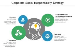 Corporate Social Responsibility Strategy Ppt Powerpoint Presentation Gallery Slides Cpb