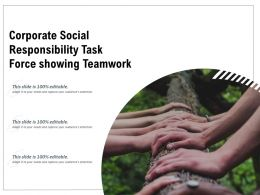 Corporate Social Responsibility Task Force Showing Teamwork
