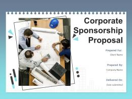 Corporate Sponsorship Proposal Powerpoint Presentation Slides