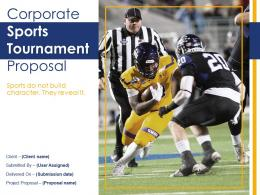 Corporate Sports Tournament Proposal Powerpoint Presentation Slides