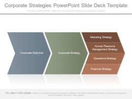 Corporate Strategies Powerpoint Slide Deck Template
