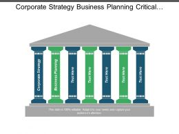 Corporate Strategy Business Planning Critical Success Factors Pest Analysis Cpb