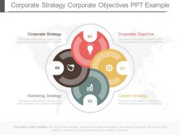Corporate Strategy Corporate Objective Ppt Example