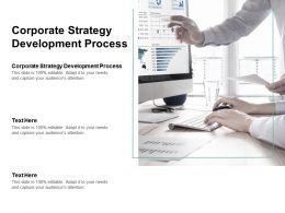 Corporate Strategy Development Process Ppt Powerpoint Presentation Pictures Shapes Cpb