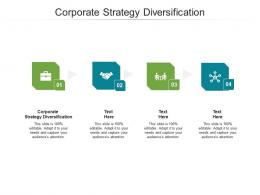 Corporate Strategy Diversification Ppt Powerpoint Presentation Infographics Master Slide Cpb