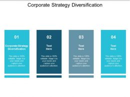 Corporate Strategy Diversification Ppt Powerpoint Presentation Styles Samples Cpb