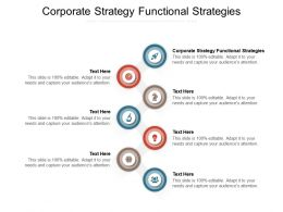 Corporate Strategy Functional Strategies Ppt Powerpoint Presentation Slides Portfolio Cpb
