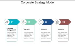 Corporate Strategy Model Ppt Powerpoint Presentation Styles Themes Cpb