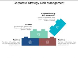Corporate Strategy Risk Management Ppt Powerpoint Presentation Styles Tips Cpb